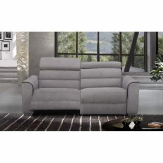 CONFORT LOFT canapé 2 places relax électrique, cuir ou tissu avec système zéro wall