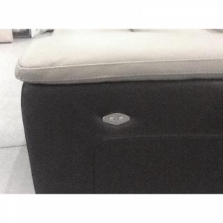 RELAXO canapé 3 places relax électrique, cuir ou tissu avec système zéro wall