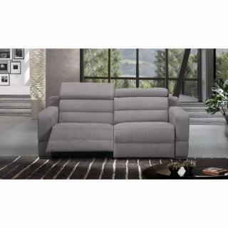 COSYO canapé 3 places relax électrique, cuir ou tissu avec système zéro wall