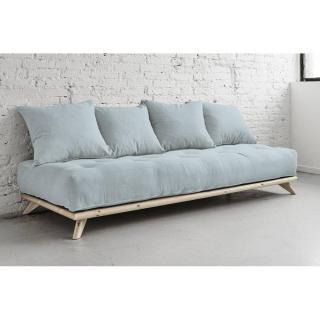 Meridienne SENZA matelas futon sky blue couchage 90*200cm