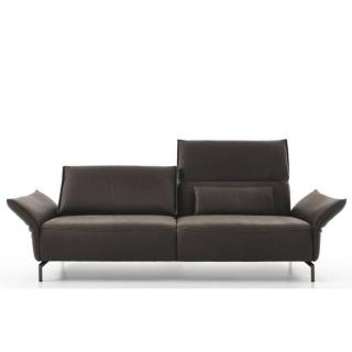 Canapé 2 places haut de gamme VANDA de KOINOR 180cm pieds laqués noir dossiers et accoudoirs réglables