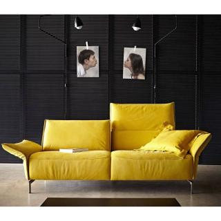 Canapé 3 places haut de gamme VANDA de KOINOR 220cm pieds chromés dossiers et accoudoirs réglables