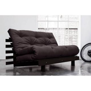 Canapé BZ wengé ROOTS WENGUE futon grey graphite couchage 140*200cm