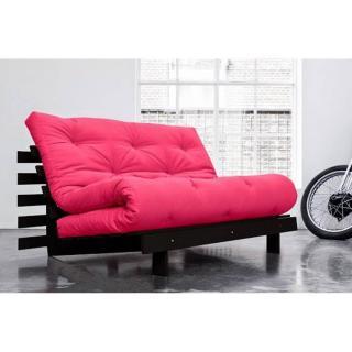 Canapé convertible wengé ROOTS WENGUE futon rose magenta couchage 140*200cm