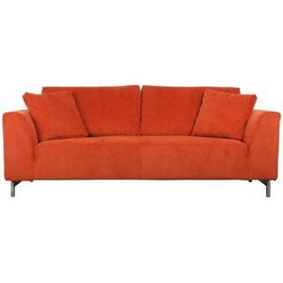 ZUIVER Canapé DRAGON RIB, 3 places tissu orange vintage