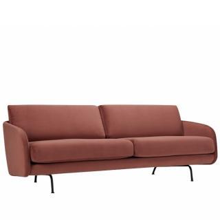 Canapé 3 places TREND 01 velours bordeaux pieds métal