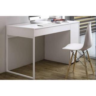 TemaHome PRADO bureau blanc mat avec 1 tiroir et 1 caisson