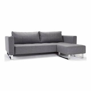 INNOVATION LIVING  Canapé gigogne design CASSIUS DELUXE EXCESS LOUNGER gris Twist Charcoal convertible lit 155*200 cm