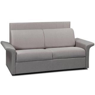 Canapé lit 3 places CASTEL 140cm OUVERTURE RAPIDO RENATONISI sommier lattes tête de lit intégrée matelas 16cm