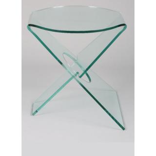 CELIA Bout de canapé en verre transparent