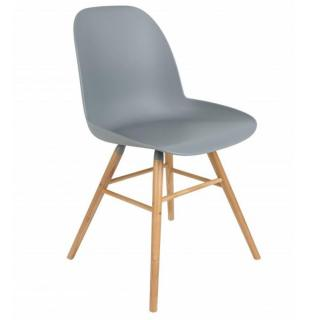 Chaise design scandinave ALBERT KUIP gris clair
