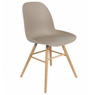 Chaise design scandinave ALBERT KUIP taupe