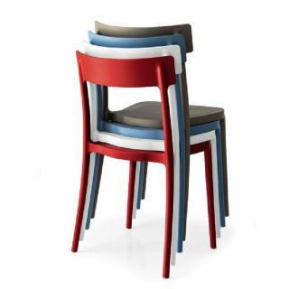 chaise de jardin design confortable au meilleur prix chaise empilable argo rouge inside75. Black Bedroom Furniture Sets. Home Design Ideas