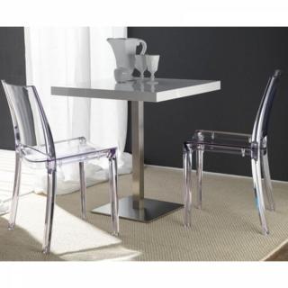 Canap s convertibles ouverture rapido lot de 2 chaises for Chaise plexiglass design