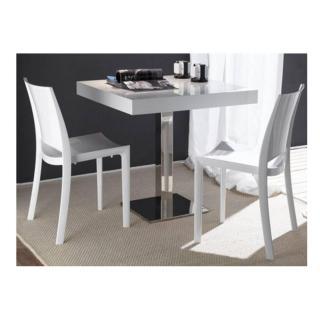 Lot de 2 chaises B-White empilables blanches brillantes