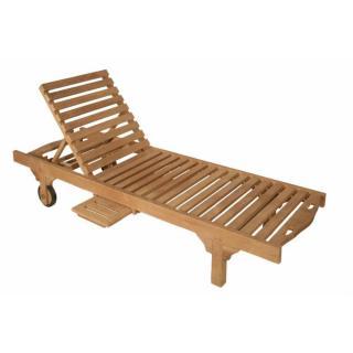 Chaise de jardin bain de soleil SUNRISE en teck