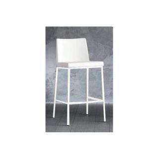 chaise de bar ERIK en cuir éco blanc