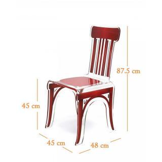 chaise design ergonomique et stylis e au meilleur prix bistro chaise en plexi rouge par acrila. Black Bedroom Furniture Sets. Home Design Ideas