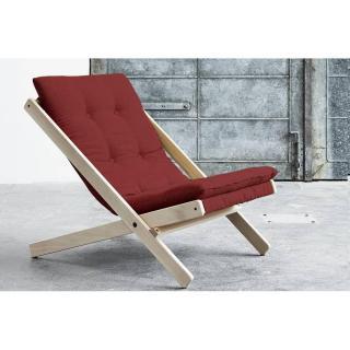 Fauteuil BOOGIE SCANDINAVE avec matelas futon couleur rouge passion