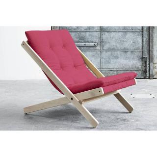 Fauteuil BOOGIE SCANDINAVE avec matelas futon couleur rose magenta