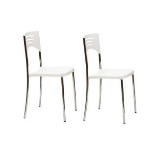 Lot de 2 chaises BREAK design blanc