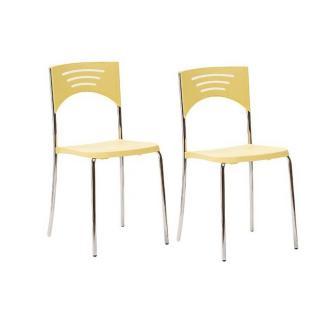 Lot de 2 chaises BREAK design jaune