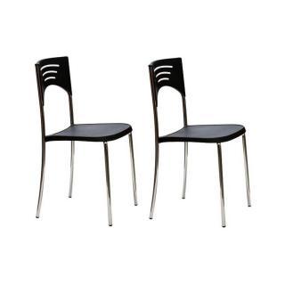 Lot de 2 chaises BREAK design noir