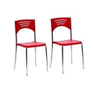 Lot de 2 chaises BREAK design rouge