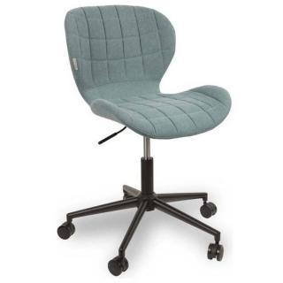 ZUIVER Chaise de bureau  OMG bleu avec piétement noir