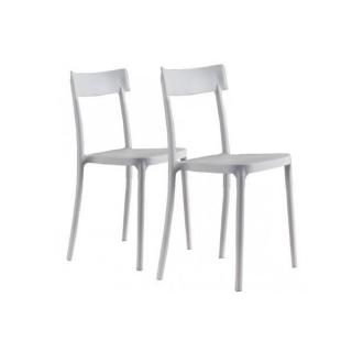 Lot de 2 chaises CORSOCOMO empilables