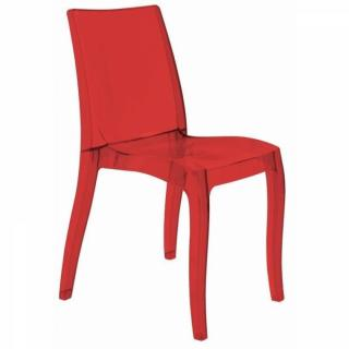 Chaise CRISTAL LIGHT design rouge