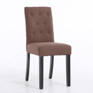 Chaise DAGOBERT en lin taupe