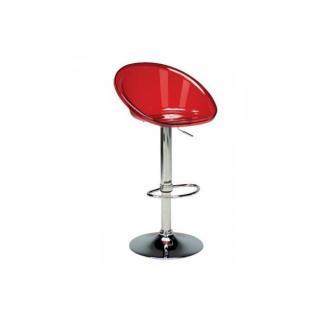 Chaise de bar SPHERE transparente rouge