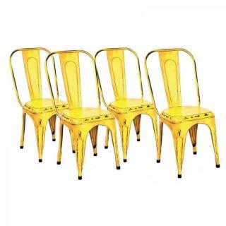 Lot de 4 chaises design AIX en acier