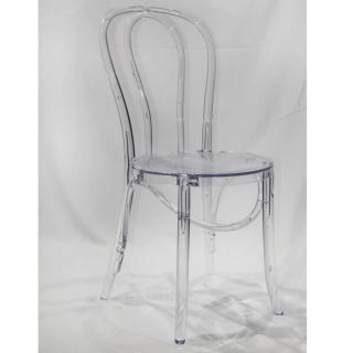 Chaise design bistrot PARIS en polycarbonate transparent