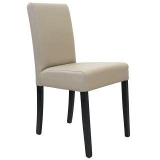 Chaise design BORG   similicuir pu taupe piétement noir