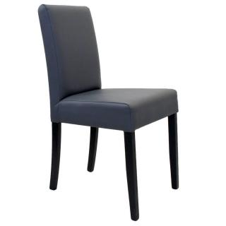 Chaise design BORG similicuir pu gris piétement noir