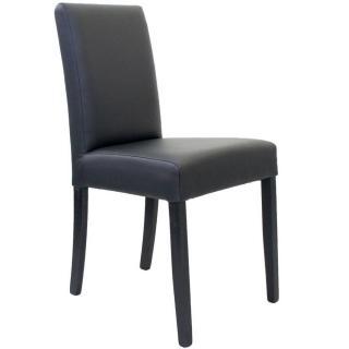 Chaise design BORG similicuir pu noir piétement noir