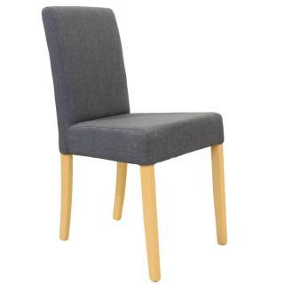 Chaise design BORG tissu graphite piétement naturel