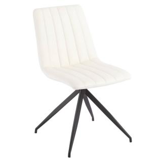Chaise design ELSBJERG similicuir pu blanc brillant