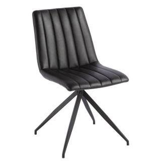 Chaise design ELSBJERG similicuir pu noir brillant