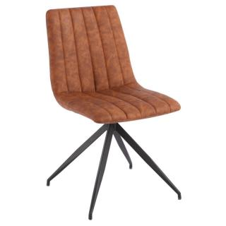 Chaise design ELSBJERG simili PUpu cognac