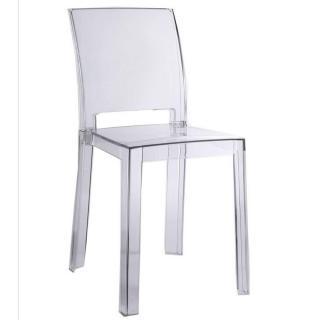 Chaise design FUTURA en polycarbonate transparent