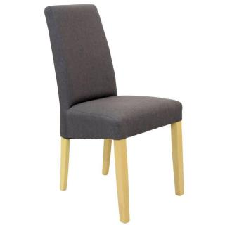Chaise design MALMÔ  tissu graphite piétement naturel