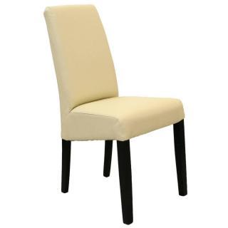 Chaise design MALMÔ  similicuir pu ivoire piétement noir