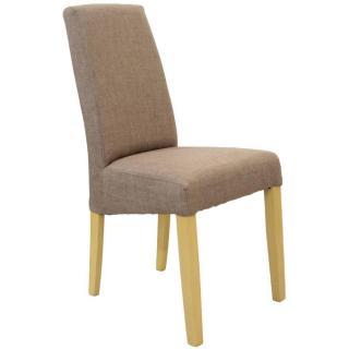 Chaise design MALMÔ tissu taupe piétement naturel