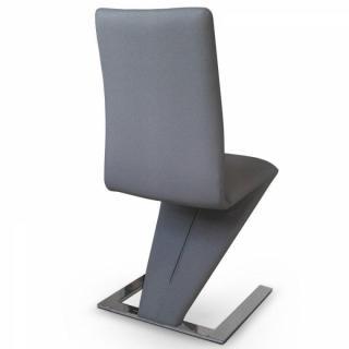 Chaises meubles et rangements lot de 2 chaises de salon for Chaise grise salon