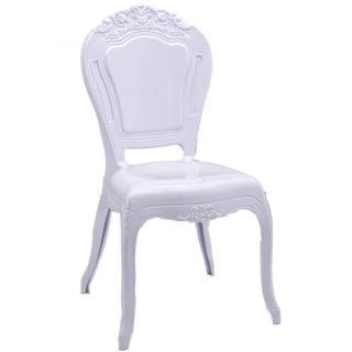 Chaise design NAPOLEON en polycarbonate opaque blanc