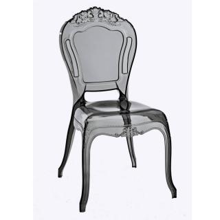 Chaise design NAPOLEON en polycarbonate transparent gris