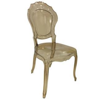 Chaise design NAPOLEON en polycarbonate transparent champagne